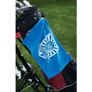 Velour Fingertip Golf Towel w/ Corner Grommet (Screen Print)