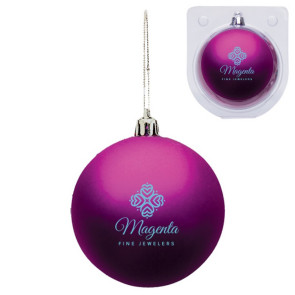 Custom Purple Shatterproof Christmas Ornament