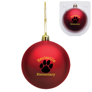 Custom Red Shatterproof Christmas Ornament