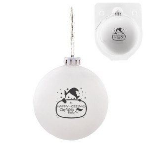 Custom Christmas Ornament - Shatterproof - White