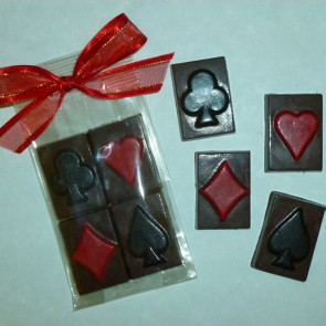 Chocolate Playing Card Suit - 4 pack