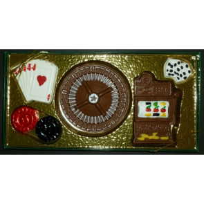 Casino Chocolate Set with Six Gambling Shapes