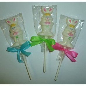 Mini Chocolate Easter Bunny Pop on a Stick