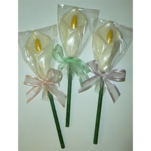 Chocolate Easter Lily Pop