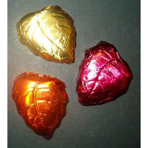 Chocolate Foiled Leaves in Multiple Color Choices