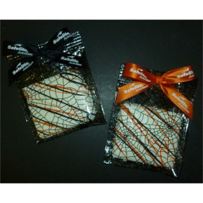Halloween Chocolate Dipped Graham Square Drizzle in Orange/Black