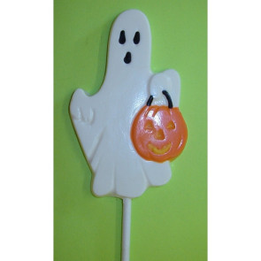 Chocolate Ghost with pumpkin Pop