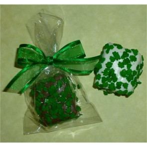 Shamrock Marshmallow Chocolate Crispy Bite