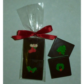Christmas Doubles Chocolate Layered Squares with Candy Coating