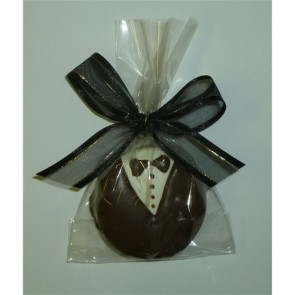 Groom Chocolate Dipped Fancy Sandwich Cookie