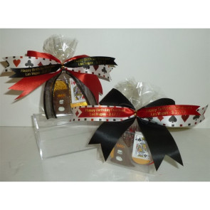 Casino Pretzel Log with Chocolate Pieces In Box with Bow