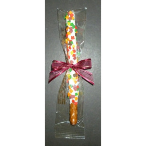 Chocolate Leaf Pretzel Rod