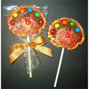Candy Coated Chocolate Turkey Pop