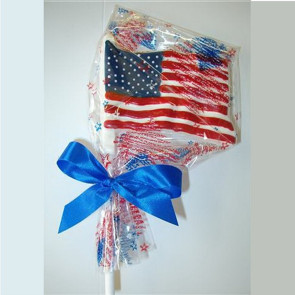 Large USA Flag Chocolate Lollipop