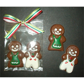 Chocolate Gingerbread Boy & Girl Duo