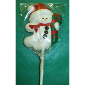 Chocolate Snowman Pop