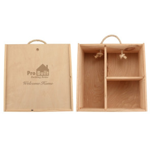 Laser Engraved Compartment Wood Box