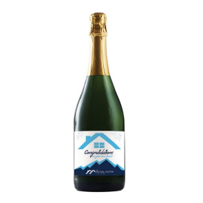750ml California Champagne (Sparkling White Wine) - w/ Custom Lab