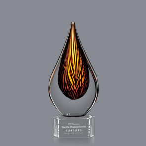 Barcelo Award on Clear Base - 7 1/2 in  Small