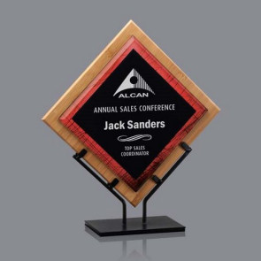 Lancaster Acrylic Award - Bamboo/Red 12 1/2 in  H