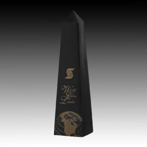 Black Marble Obelisk Award 12 in.