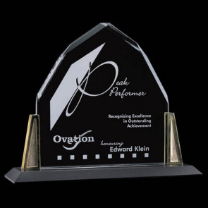 Avalon Award - Starfire with Gold posts 8 in.x9 in.