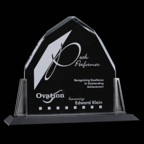 Avalon Award - Starfire Crystal with Pewter Posts10 in.x10 in.
