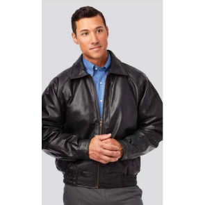 Lambskin Leather Jacket- Classic Style