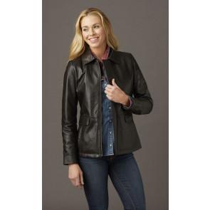 Ladies Hipster Custom Leather Jacket
