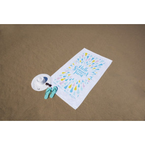 Diamond Collection White Beach Towel - Embroidered