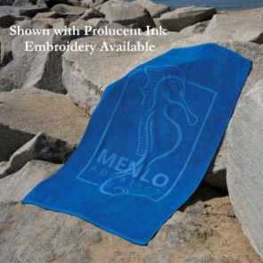 Platinum Collection Heavyweight Colored Beach Towel -Embroidered