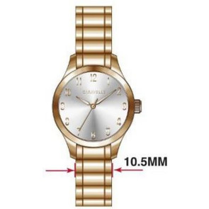 Caravelle Ladies Bracelet from the Traditional Collection- Rose Gold