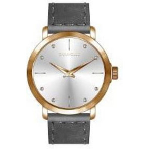 Caravelle Ladies Br from the min/MAX Collection- Silver Tone and Gold Accents