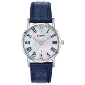 Bulova Watches Ladies Blue Strap from the American Clipper Collection