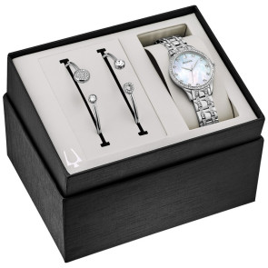 Bulova Watches Ladies Boxed Gift Set from the Crystal Collection