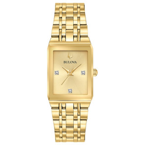Bulova Watches Ladies Quadra Bracelet from the Futuro Collection