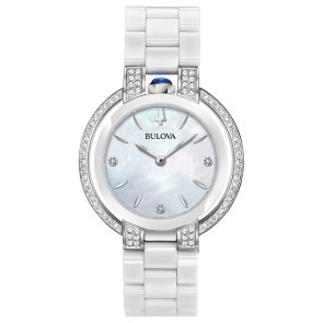 Bulova Watches Ladies Ceramic Bracelet Rubaiyat