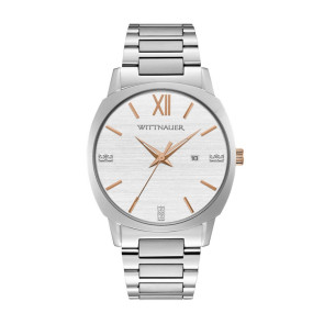Wittnauer Mens Silver Bracelet from the Montserrat Collection