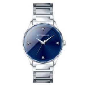 Wittnauer Mens Bracelet from the Marquee Collection- Silver with Blue Dial