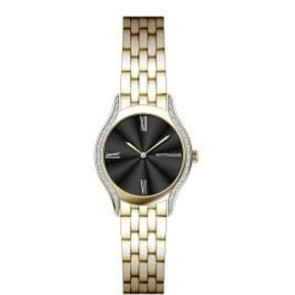 Wittnauer Ladies Bracelet from the Black Tie Collection, Diamond Case- Two Tone