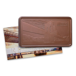 Custom Chocolate  Executive Gift Bar 2 lbs