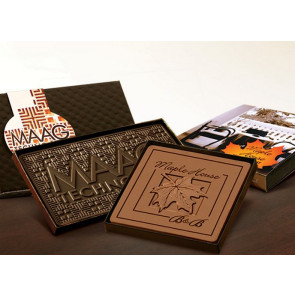 Custom Chocolate Bar with Clear Lid 4 in x 4 in