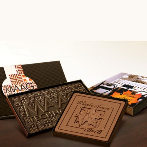Logo Chocolate Bar with Box Lid and Custom-Imprinted Band