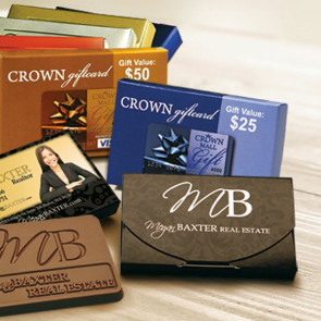 Chocolate Business Card in Imprinted Box