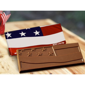Stars & Stripes Chocolate Wrapper Bars-Lg -Stock