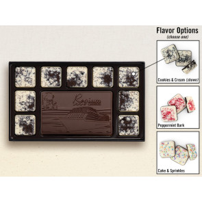 New! 10-Piece Chocolate Assortment with Flavored Border