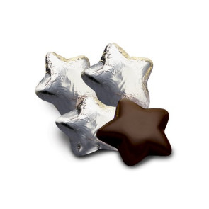 Chocolate Stars in Silver Foil-Dark - Stock