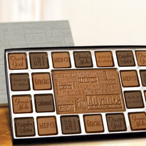 Chocolate Gift Assortment with Custom Logo Border - 90 Piece