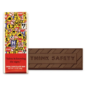 Safety Is Knowing the Signs Chocolate Bar