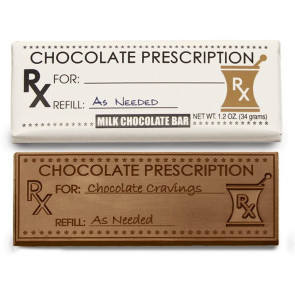 Chocolate Prescription Wrapper Bars - Stock